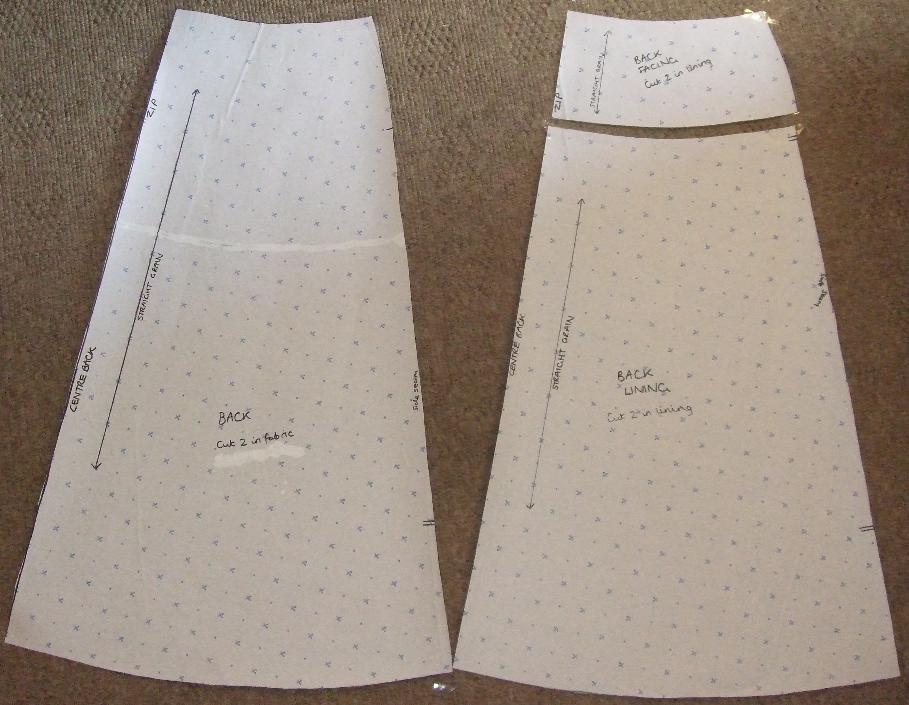 How to make your own pattern for an A-line skirt | Thread Carefully