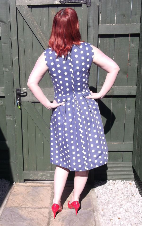 Back view.  Unfortunately the polka dots don't match up :-(