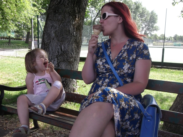 Reason 2: It's a nice dress to wear when eating chocolate ice cream at the park.