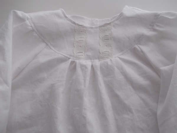 Front yoke with added Broderie Anglaise trim