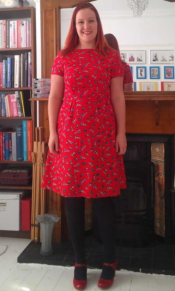 Lighthouse Colette Peony Dress (and shoes from Topshop)