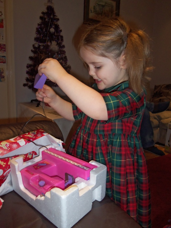 Yes, yes, I did. I got her a toy sewing machine for Christmas! :-)