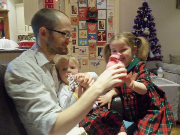 Mr Tweedie and the Tweedie children on Christmas Day :-)