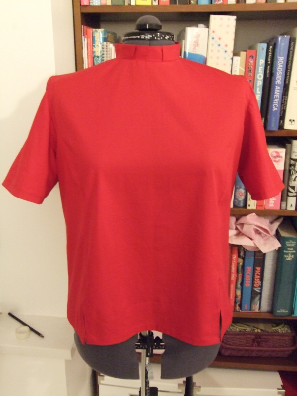 Red clergy shirt/blouse