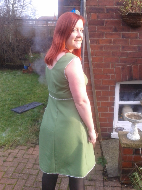 The Rooibos dress - back/side/backside