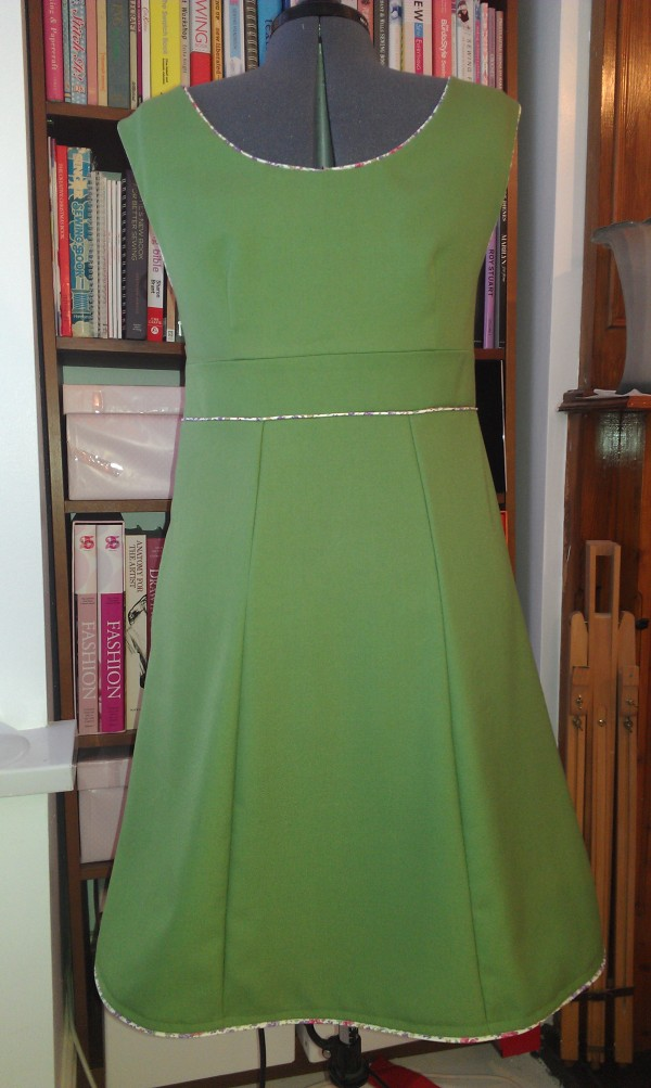 The dress on Delilah, back view