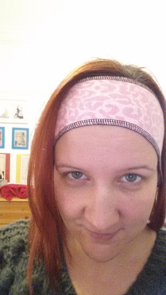 I like to call this my porno running headband.