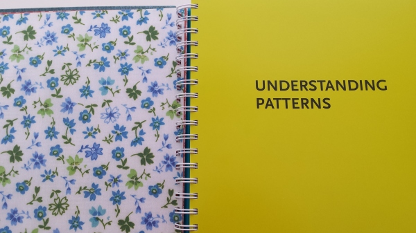 Opposite each tab there's a different fabric print.  There are florals, checks, stripes, polka dots...all very pretty!