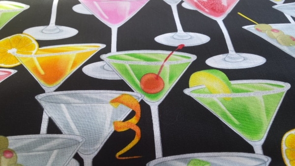 Timeless Treasures Cocktail Print Quilting Fabric