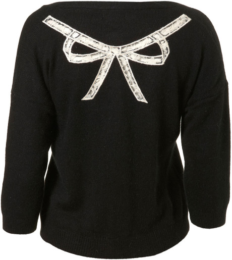 Lace bow cardigan - back view - from Topshop