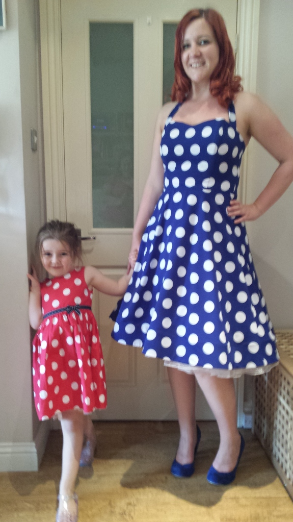 Me with Little Tweedie in her red polka dot dress!
