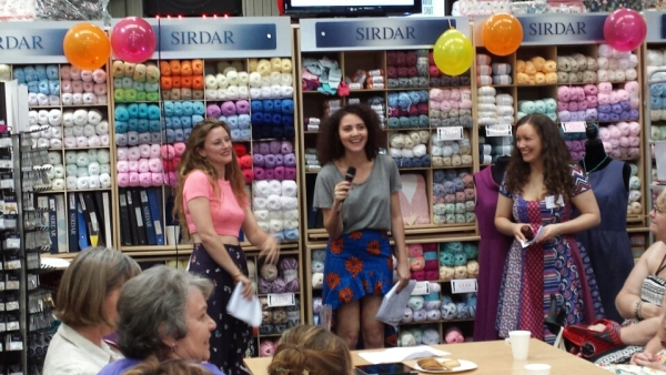 Elisalex (left), Victoria (centre) and Vicki of Minerva Crafts (right)