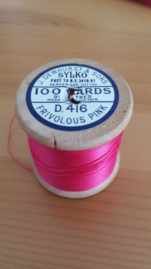 Frivolous Pink vintage thread