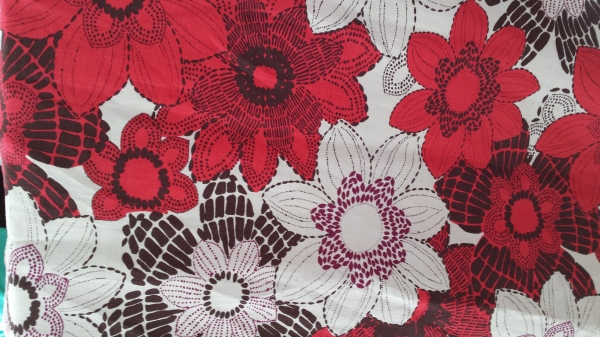 John Kaldor Raspberry Ramie dress fabric