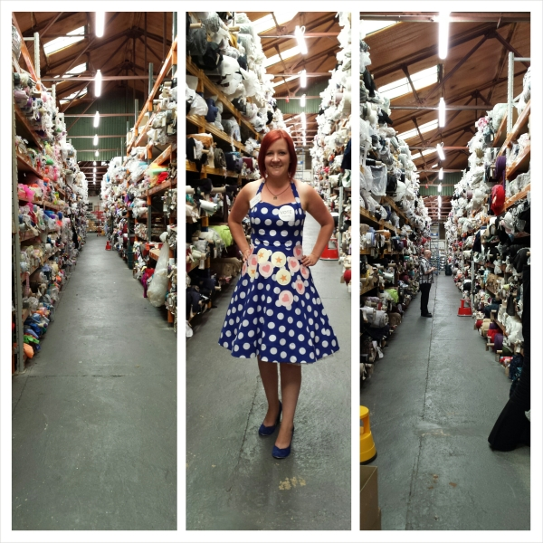 Two aisles left and right, and what I was wearing on the day in the middle.