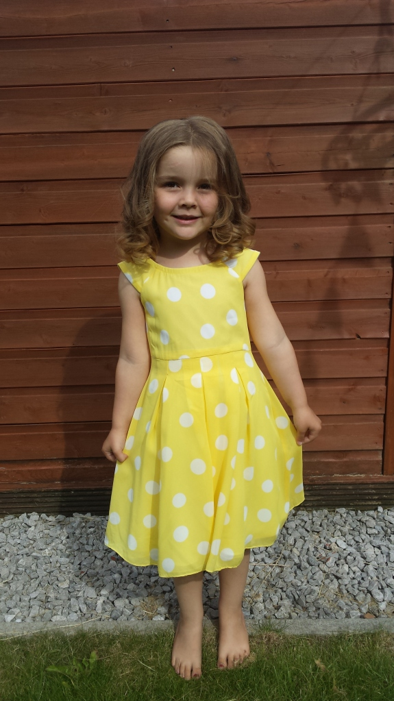 Yellow polka dot dress of awesome