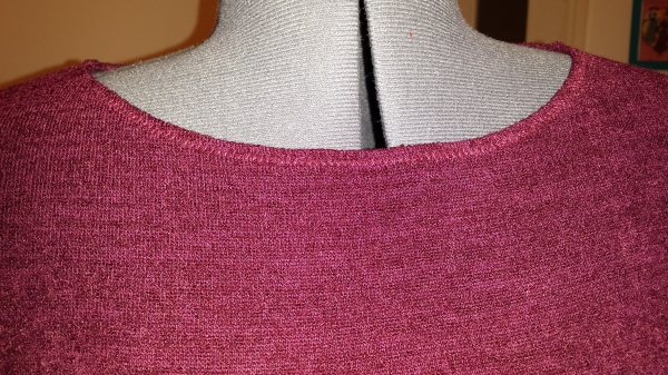 Neckline close up
