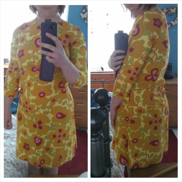 Too close-fitting and the sleeves don't look right in this fabric!
