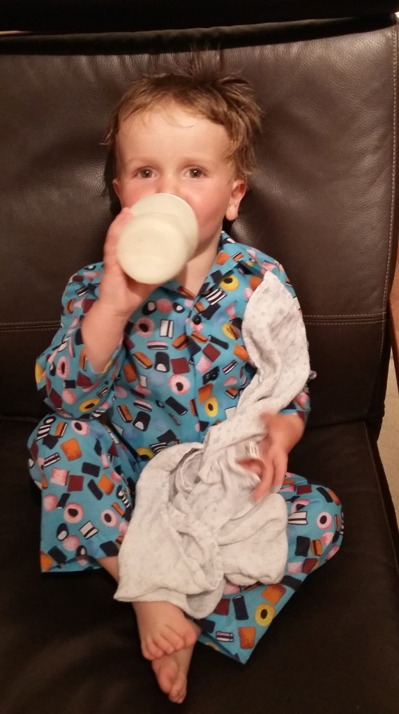 Milk and muslin before bed