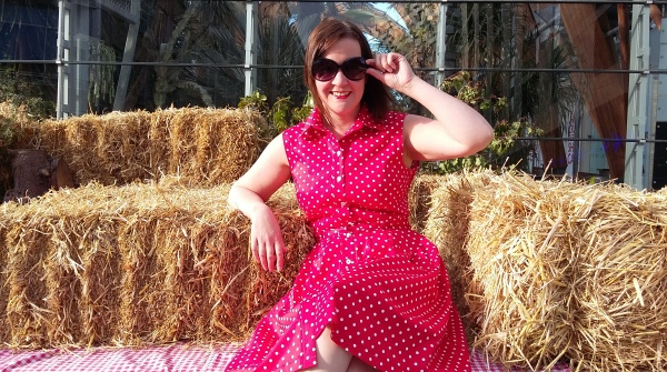 I'm sitting on a hay cart.  How awesome is that for a photo opportunity?!
