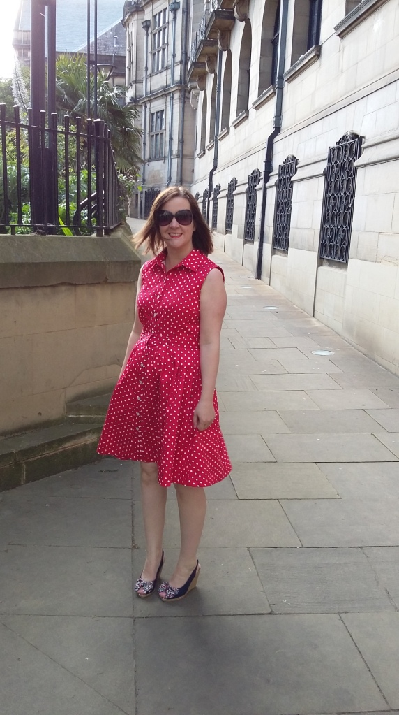 It was a bit windy in this photo which is why the dress is hanging not quite straight and my hair looks a bit odd!
