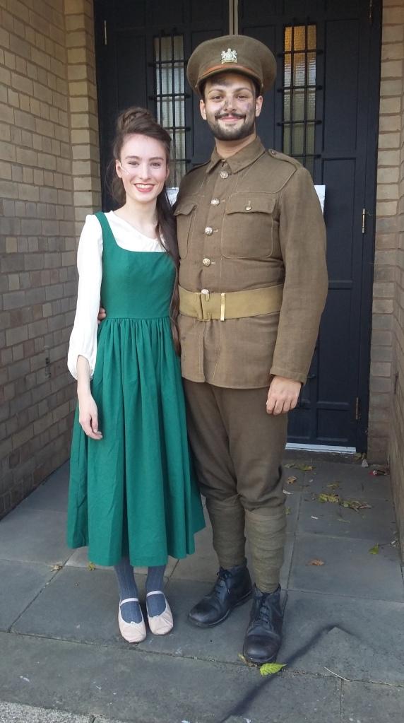 Dougie McBride (Jamie Rahman) with his girlfriend (Eilidh Pollard)