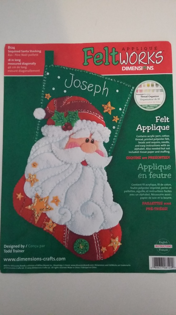 Dimensions Felt Applique Christmas Stocking - Sequinned Santa
