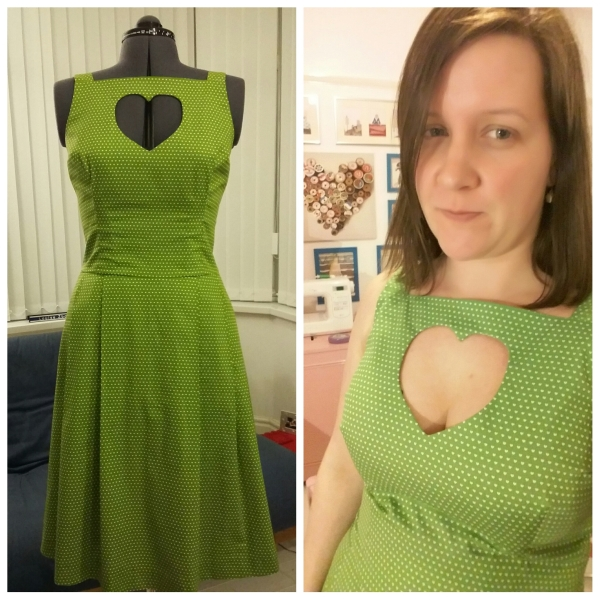This is my late-night, no make-up, just-finished-my-new-dress photo!