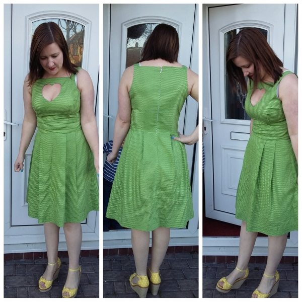 Styled for summer with bright yellow wedges! I much prefer it this way! (The creases are mainly because this was after a whole day of wear.)