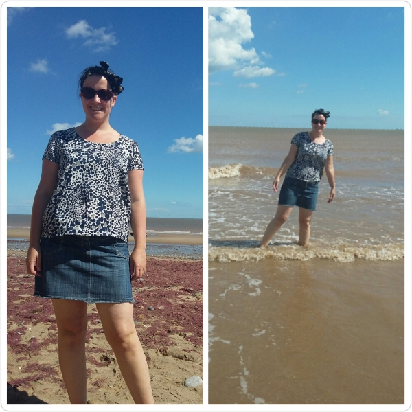 Grainline Scout Tee at Kilnsea beach