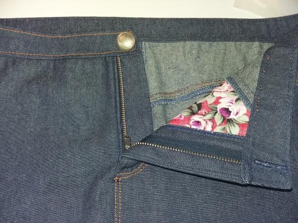 Grainline Moss Skirt fly